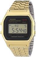 Casio - Vintage - A159WGEA-1EF - Montre Mixte - Quartz Digital - Cadran Noir - Bracelet Acier Doré