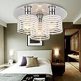 Chambre A Coucher Best Deals - OOFAY LIGHT® Plafonnier moderne simple et élégante à 3 médailles / Plafonnier de mode pour chambre à coucher /Plafonnier moderne en verre pour salon