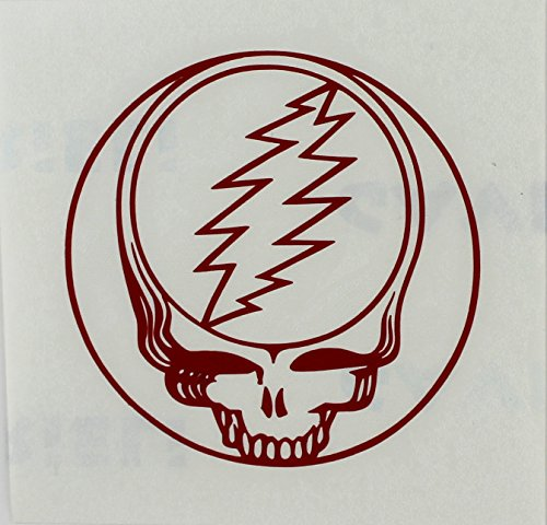 CandD Visionary Grateful Dead - SYF Small Rub-On Sticker Red