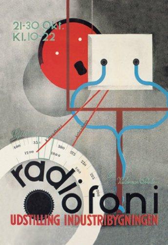 Radiofoni Udstilling Industribygningen, By Arne Jacobsen, 12X18 Poster, Heavy Stock Semi-Gloss Paper Print