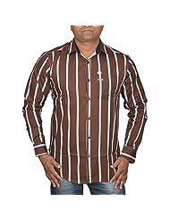 Hunk Men's Coffee Cotton Shirt