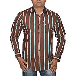 Hunk Men's coffee Cotton Shirt