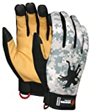 MCR Safety MD100M Memphis Synthetic Leather Palm Men?s Multitask Style Gloves with Digital Camo Pattern Fabric Back, Medium, 1-Pair by MCR Safety