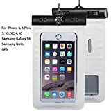 Waterproof Phone Case, Asstar Cellphone Waterproof Dry Bag Case Pouch with Compass Locate for Universal Waterproof Case for iPhone 6S SE 5S Galaxy S5 S4 S3 (White)