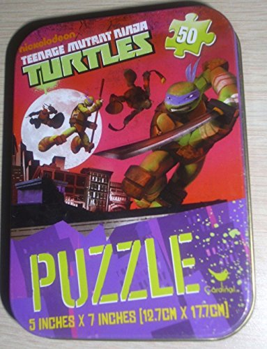 Teenage Mutant Ninja Turtles 50 Piece Jigsaw Puzzle in Travel Tin - 1