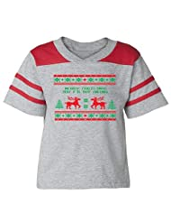 Festive Threads Christmas Sweater Football