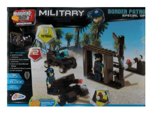 Block Tech - 135 Pc Military Border Patrol Building Set - by Grafix
