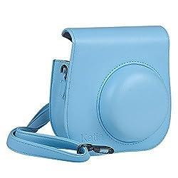 Katia PU Leather Fujifilm Instax Mini 8 Case Bag with Shoulder Strap for Fujifilm Instax Mini 8 Camera (Blue 1)