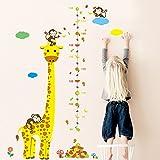Winhappyhome-Giraffe-Animaux-Enfants-Taille-Croissance-Graphique-De-Mesure-Stickers-Muraux-pour-LArriRe-Plan-Chambre-De-BB-pour-Enfants-Amovibles-DCor-Stickers