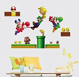 Modern House Super Mario removable Vinyl Mural Art Wall Sticker Decal by Modern House