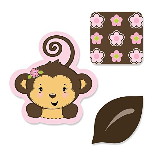 Monkey Girl - Shaped Party DIY Cut-Outs - 24 Count