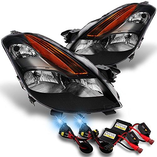 Halogen Headlight Headlamp Pair Set of 2 for 10-13 Nissan Altima Coupe