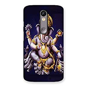 Stylish Dancing Ganesha Back Case Cover for Moto X Force