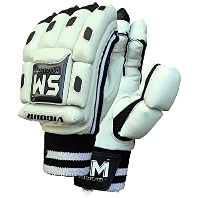 SM Vigour Batting Gloves, Men's (Black/White)