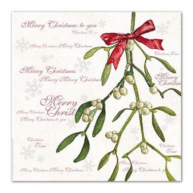 """Charity Christmas Cards Medici (MED6932, confezione da 8 biglietti, Vischio, a favore dell """"seguenti associazioni caritative: Marie Curie Cancer Care, Parkinsons, CLIC Sargent, Oxfam di imbarcazioni, Macmillan salvataggio"""