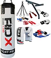Authentic RDX 13PC Professional Boxing Set Punch Bag 4FT/5FT,Gloves,Bracket MMA AB from RDX