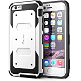 iPhone 6 Plus Case, i-Blason Apple iPhone 6 Plus Case 5.5 Inch Armorbox Dual Layer Hybrid Full-body Protective Case Plus Front Cover + Built-in Screen Protector / Impact Resistant Bumpers for iPhone 6 Plus (White)