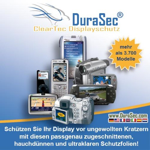 5 x DuraSec ClearTec Displayschutzfolie f&#252;r Sony PRS505 eBook Reader