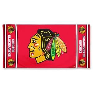 Chicago Blackhawks Pool Beach Bath Gym Towel Large 30 X 60 with Official NHL Hockey... by WinCraft