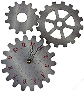 Dapper Penguin 7-inch Gears Wood Wall Clock and Wall Hangings