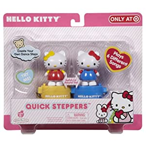 Hello Kitty Quick Steppers(Pack of 2) - Blue Kitty/Gold Mimmy
