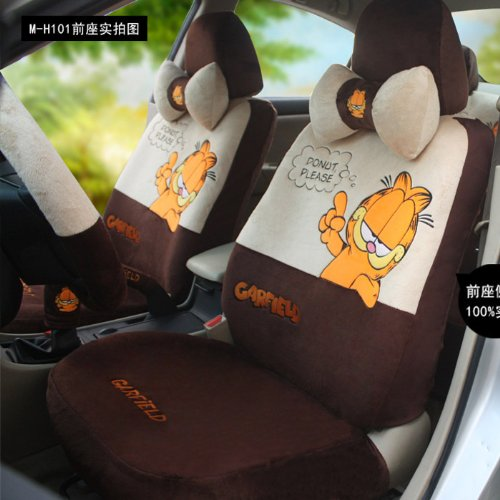 Garfield Winter Furry Car Seat Covers Sitting Cushion Sets 18 Pieces One Suit