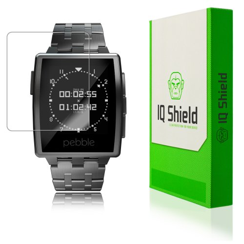 Iq Shield Liquidskin - Pebble Steel Smartwatch Screen Protector With Lifetime Replacement Warranty - High Definition (Hd) Ultra Clear Watch Smart Film - Premium Protective Screen Guard - Extremely Smooth / Self-Healing / Bubble-Free Shield - Kit Comes In