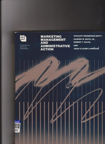 Marketing Management and Administrative Action (Mcgraw Hill Series in Marketing) PDF