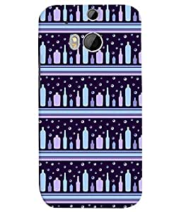 TOUCHNER (TN) Bottle Pattern Back Case Cover for HTC One M8::HTC M8