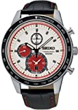 Seiko Men's Quartz Watch Chronograph SNDD91P1 with Leather Strap