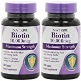 Biotin (10,000mcg) Maximum Strength 100 Tablet (2 pack)
