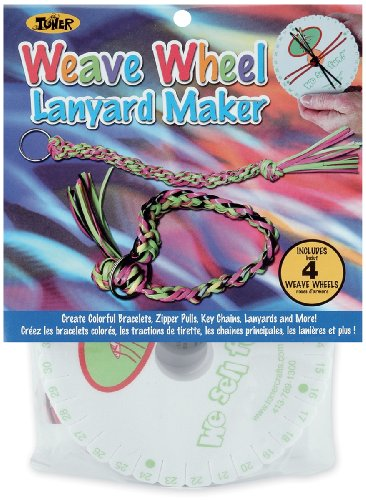 Toner Plastics Weave Wheel 4-Pack Lanyard Maker - 1