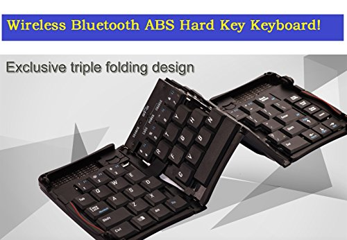 Top® Quality Triple Foldable Wireless Bluetooth Keyboard For Galaxy Note 2, Note Ii , Note 3/Iii, Note 4/Iv, Note 5/V, Note 6/Vi, Galaxy S4, Siv, Gt-I9500, S5/S6/S7/S8, Ipad 5/6/7/8/9. Iphone 4/5/6/7/8/9. Foldable Wireless Keyboard With Abs Hard Key, Fold