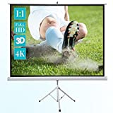 """ivolum 120"""" HD Projector Screen, 86"""" x 86"""" viewing area for Indoor and Outdoor projection (Tamaño: 122 Inch 1:1)"""