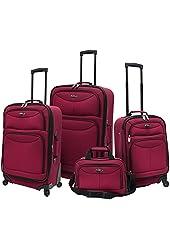 Traverler's Choice U.S. Traveler Clovis 4-Piece Spinner Luggage Set