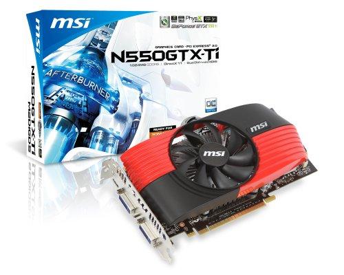 MSI Computer Corp. nVidia GeForce N550GTX-TI M2D1GD5/OC GTX550 Ti 1GB DDR5 2DVI/Mini HDMI PCI-Express Video Card