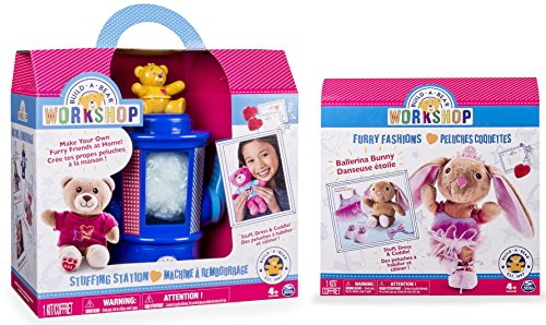Build-A-Bear Workshop Stuffing Station and Furry Fashions Ballerina Bunny Refill Pack 2 Piece Bundle (Build A Bear Bundle compare prices)