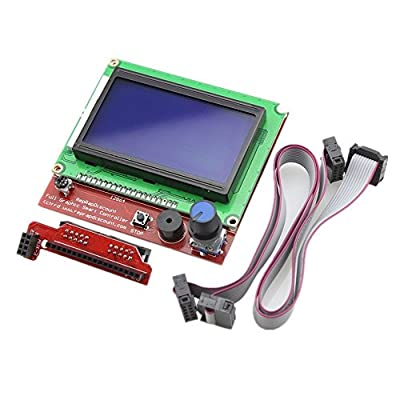 Redrex Full Graphic 12864 LCD Smart Display Controller for RepRap RAMPS 1.4 3D Printer Mendel Prusa Arduino Mega Board