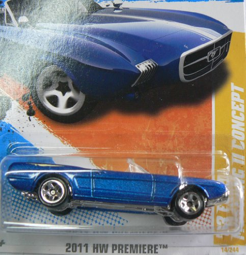 Hot Wheels 2011 HW Premiere 14/50 '63 Ford Mustang II Concept on Card Variation - 1