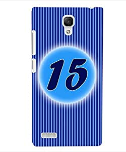 ColourCraft Numerology Number 15 Back Case Cover for XIAOMI REDMI NOTE