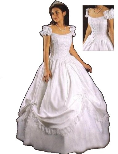 Araceli Quinceanera #4001 Sky Blue Size 8 Formal Evening Dress Debutante Prom Ball Gown
