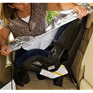 Mommy's Helper Car Seat Sun Shade with Cling Sunshade