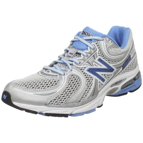 New Balance Women's WR860 Stability Running Shoe,Grey/Carolina Blue,7.5 2A US