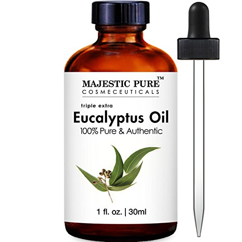 Majestic Pure Eucalyptus Essential Oil, 100% Pure and Natural Therapeutic Grade, 1 Fluid Ounce