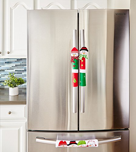 Snowman Kitchen Appliance Handle Covers Set Of 3 Dress Up Your Refrigerator Handles Oven