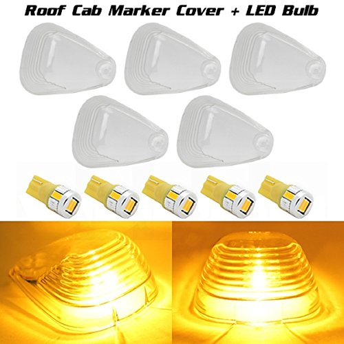Partsam 5X Cab Marker Clearance Light Roof Running Light For 2003-2014 Ford E-150