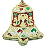 DEEP Bell Shaped Handmade Meenakari Kankavati/ Kumkumvati Box/ Meenakari Decorative Box/ Dry Fruit Box (10 Cm X 9 Cm X 2.5 Cm)