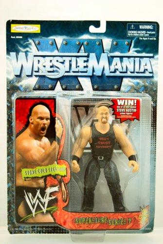 Buy Low Price Jakks Pacific Wwf Wrestlemania 15 Stone Cold Steve Austin Figure (B0022SOSL0)