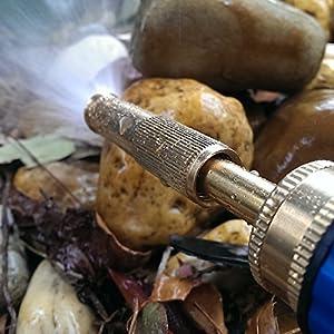 Garden Hose Nozzle - Adjustable Hand Sprayer - Heavy Duty Brass Construction, Leak Proof Warranty from Rapsil