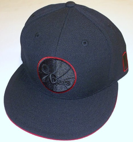 Philadelphia 76ers Flat Brim Fitted Adidas Hat - Size 7 3/8 - TU49M at Amazon.com